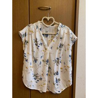ViS - 花柄 スキッパーシャツ