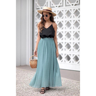 room306 CONTEMPORARY - room306♡Chiffon Tuck Maxi Skirt
