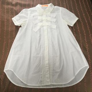 F i.n.t - Fi.n.t リボン3連Aラインシャツ(ワンピース)