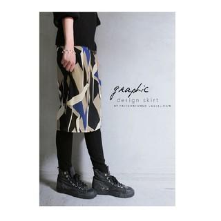 antiqua - antiqua⭐幾何学柄膝丈スカート完売品
