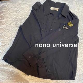 ナノユニバース(nano・universe)の✨即購入OK✨【新品♡nano universe 】ミリタリー風シャツ(シャツ/ブラウス(長袖/七分))