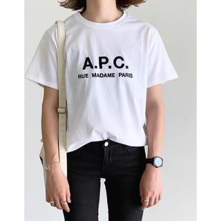 a.p.cロゴtシャツ