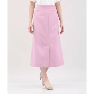 PLST - 新品 PLST プラステ マイクロダブルクロスAラインマキシスカート ピンク