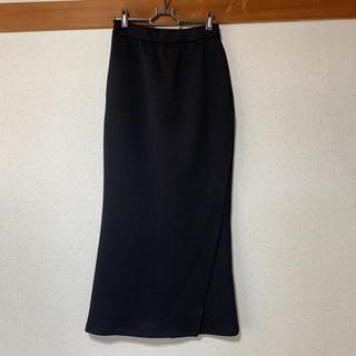 X-girl - エックスガール ロングスカート タイトスカート 黒 送料無料