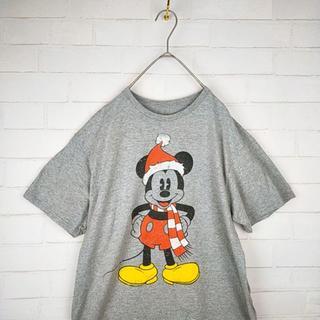 ディズニー(Disney)のセンタービッグミッキー USビッグサイズTシャツ サイズLビッグシルエット(Tシャツ/カットソー(半袖/袖なし))
