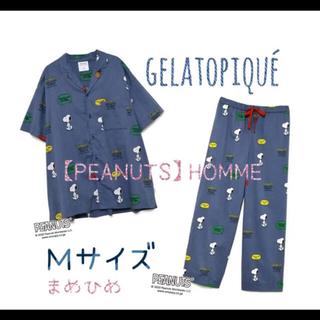 ジェラートピケ(gelato pique)の新品♡【PEANUTS】HOMMEセットアップM♡ネイビー♡ジェラートピケ(その他)