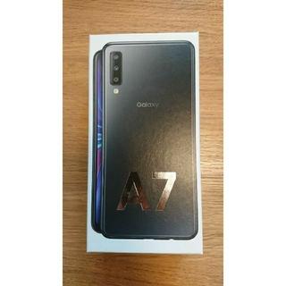 サムスン(SAMSUNG)のGalaxy A7 ブラック 新品未開封(スマートフォン本体)