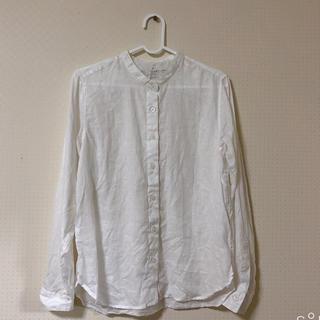 ムジルシリョウヒン(MUJI (無印良品))の無印オーガニックリネン洗いざらしスタンドカラーシャツS(シャツ/ブラウス(長袖/七分))