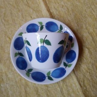 アラビア(ARABIA)の美品 グスタフスベリ プルーヌス カップ&ソーサー オリジナル版(グラス/カップ)