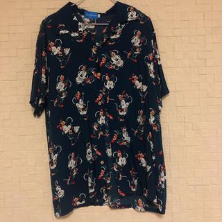 ディズニー(Disney)のユニセックスLサイズ ミニーアロハシャツ(シャツ/ブラウス(半袖/袖なし))