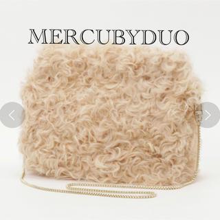 マーキュリーデュオ(MERCURYDUO)の美品*カルガンラムファーバッグ(クラッチバッグ)