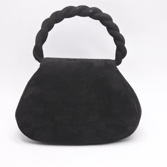 CHANEL(シャネル)のシャネル ヴィンテージ 激レア ネジネジハンドバッグ スエード 美品 アーカイブ レディースのバッグ(ハンドバッグ)の商品写真