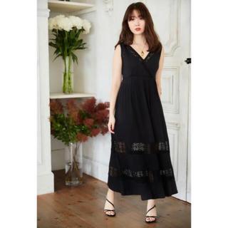 herlipto Lace-trimmed Jersey Long Dress