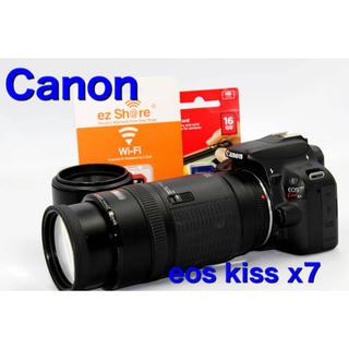 Canon - Canon eos kiss x7 ダブルズームセット Wi-FiSDに変更可