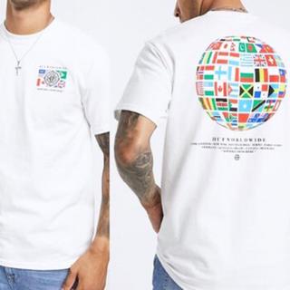 ハフ(HUF)のHUF GLOBAL WAVE Tシャツ ホワイト Lサイズ 新品(Tシャツ/カットソー(半袖/袖なし))