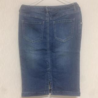 イッカ(ikka)のタイトスカート デニムスカート(ひざ丈スカート)