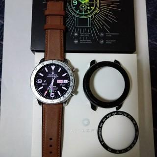 Amazfit  Gtr 47mm ベゼル付き 美品(腕時計(デジタル))