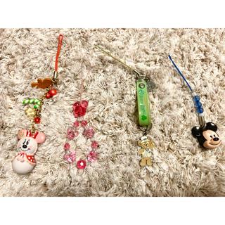 ディズニー(Disney)の【Disney】4種ストラップ バラ売り可(キャラクターグッズ)