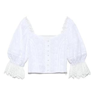 リリーブラウン(Lily Brown)のリリーブラウン  カットワーク刺繍ブラウス(シャツ/ブラウス(半袖/袖なし))