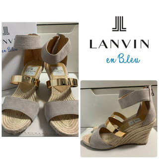 LANVIN en Bleu - ランバンオンブルー グレースエード サンダル