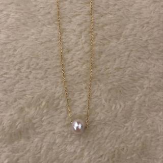 ミキモト(MIKIMOTO)の本真珠ネックレス0.5 K18 750 美品(ネックレス)