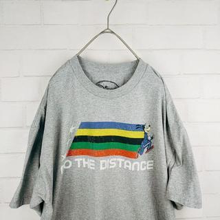 ディズニー(Disney)のヴィンテージグーフィーTシャツ サイズXLのビッグシルエット ゆるダボで可愛い(Tシャツ/カットソー(七分/長袖))