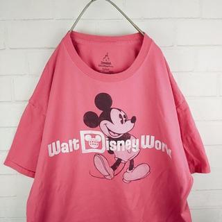 ディズニー(Disney)のディズニーワールドミッキーTシャツ ヘインズボディ サイズL(Tシャツ/カットソー(半袖/袖なし))