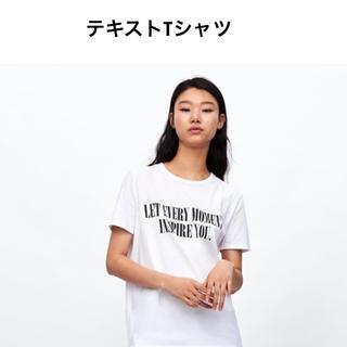ZARA - ZARA テキストTシャツ