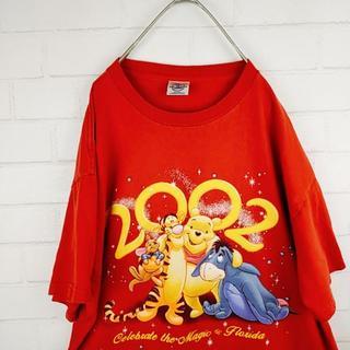 ディズニー(Disney)のフロリダディズニーワールドTシャツ クマのプーさん サイズLのビッグシルエット(Tシャツ/カットソー(七分/長袖))
