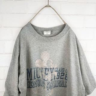 ディズニー(Disney)のディズニーミッキービッグサイズTシャツ サイズL(Tシャツ/カットソー(七分/長袖))