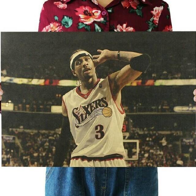 ✨新品超特価✨NBAポスター❀アレンアイバーソン❀AI▷The ANSWER◐ スポーツ/アウトドアのスポーツ/アウトドア その他(バスケットボール)の商品写真