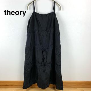 theory - 【theory】セオリー シルクワンピース  ブラック 2サイズ