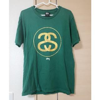 STUSSY - STUSSY ステューシー ロゴTシャツ 緑 グリーン ゴールド ストリート