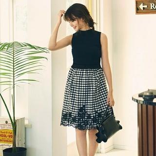 Rirandture - 【美品】カットワーク刺繍ドッキングワンピース/1