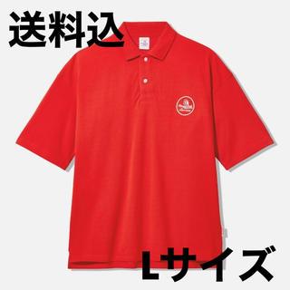 サンダイメジェイソウルブラザーズ(三代目 J Soul Brothers)のgu studio seven big polo (5分袖) Red L(ポロシャツ)