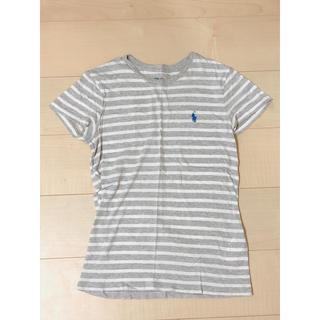 POLO RALPH LAUREN - POLO RALPH LAUREN Tシャツ(グレー×白 ストライプ)