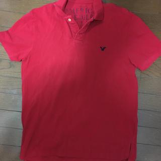 アメリカンイーグル(American Eagle)のアメリカンイーグル ポロシャツ 赤色 Lサイズ(ポロシャツ)