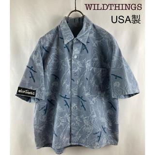 ワイルドシングス(WILDTHINGS)の希少 WILDTHINGS  USA製 半袖プリントシャツ(シャツ)