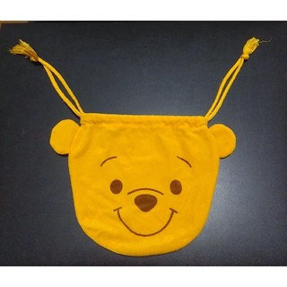 ディズニー(Disney)のプーさん くまのプーさん 巾着 巾着袋 ★ ディズニー Disney 正規品 ★(ポーチ)