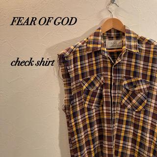 フィアオブゴッド(FEAR OF GOD)のFear of God Sleevless Check Shirt チェック(シャツ)