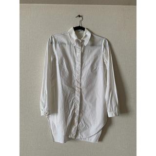 カルヴェン(CARVEN)のCARVEN カルヴェン コレクション定番アイテム ハート型 白 ホワイトシャツ(シャツ/ブラウス(長袖/七分))