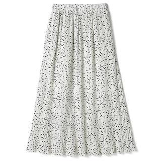 GRL - GRL ドットプリーツスカート ホワイト 白 美品 韓国ファッション
