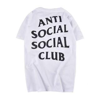 アンチ(ANTI)の新品未使用 Anti Social club 白L(Tシャツ/カットソー(半袖/袖なし))