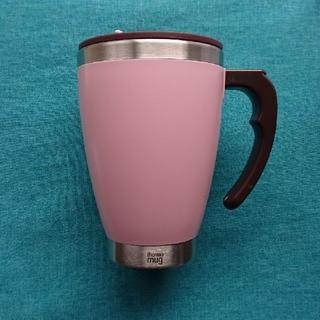 サーモマグ(thermo mug)のthermo mug(サーモマグ) ラウンドマグ ピンク 未使用 美品(タンブラー)
