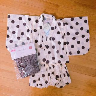 フタフタ(futafuta)のテータテート 水玉浴衣ドレス(甚平/浴衣)