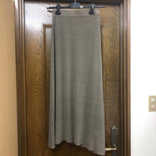 L'Appartement DEUXIEME CLASSE - アパルトモン購入 カルメイヤー ニットスカート サイズS カーキ 美品