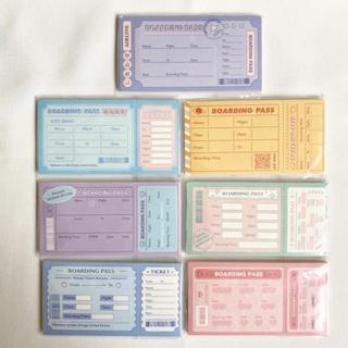 【No.33】海外 チケット メモ帳 メモパッド 約350枚 7種類セット