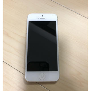 Apple - iPhone 5【ジャンク品】 ホワイト&シルバー(ソフトバンク)