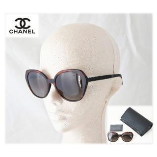 シャネル(CHANEL)の正規本物!新品【シャネル】偏光レンズ ビジューテンプル サングラス べっこう柄(サングラス/メガネ)
