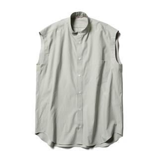ロンハーマン(Ron Herman)の新品 AURALEE オーラリー ノースリーブブラウス シャツ ライトグリーン0(シャツ/ブラウス(半袖/袖なし))